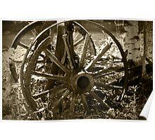 Vintage Wagon Wheels Poster