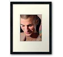 Shy Smile Andrew Framed Print