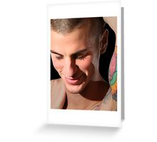 Shy Smile Andrew Greeting Card