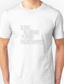 Genius Billionaire Playboy Philanthropist [Light] T-Shirt