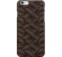 Brown Haka Cable Knit iPhone Case/Skin