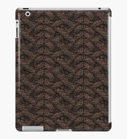 Brown Haka Cable Knit iPad Case/Skin