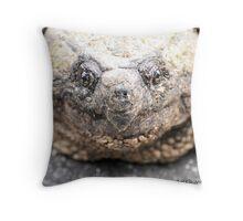 Alligator Snapping Turtle (Closeup) Throw Pillow