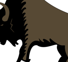 usa warriors buffalo by rogers bros Sticker