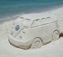 VW beach sculpture by bulldawgdude