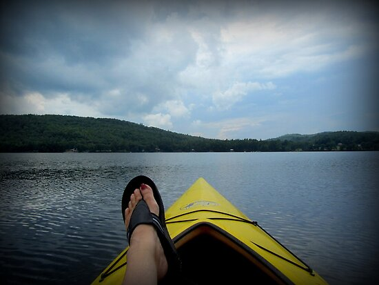 Kayaking in Maine by Debbie Robbins