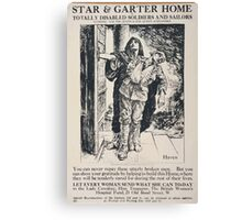 Star Garter Home for totally disabled soldiers and sailors 464 Canvas Print