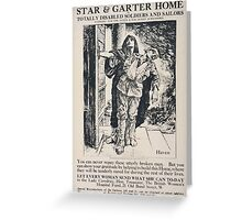 Star Garter Home for totally disabled soldiers and sailors 464 Greeting Card