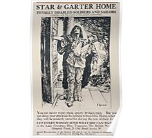 Star Garter Home for totally disabled soldiers and sailors 464 Poster
