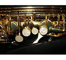 Suave Tones - Saxophone Keys Photographic Print