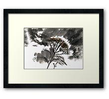 Monarch's Garden Framed Print