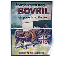 I hear they want more Bovril My place is at the front 908 Poster