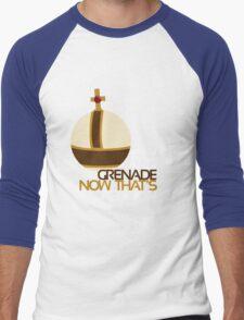 Holy Hand Grenade: Now That's Religion Men's Baseball ¾ T-Shirt