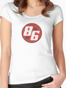 86 - AE or GT?   (dark print) Women's Fitted Scoop T-Shirt