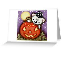 Claude and the Pumpkin Greeting Card