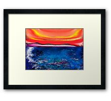 Abstract Mallorca Framed Print