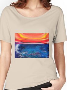 Abstract Mallorca Women's Relaxed Fit T-Shirt