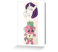 RarityXSpike Greeting Card