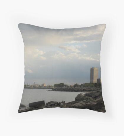 Milwaukee Cityscape 08 19 2012 Throw Pillow