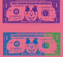 Disney Dollars III by PrinceRobbie