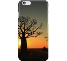 Sunset on the flats iPhone Case/Skin
