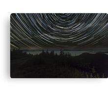 Star Trails Over Skykomish Valley Canvas Print