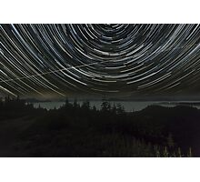 Star Trails Over Skykomish Valley Photographic Print