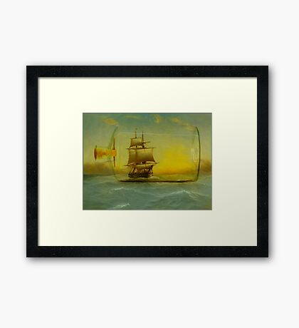 Once In It is Difficult to Escape Framed Print