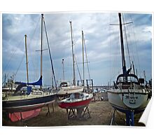 Yachts, Holyhead Harbour, Wales Poster