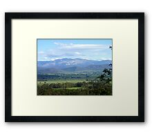 The King Valley Framed Print