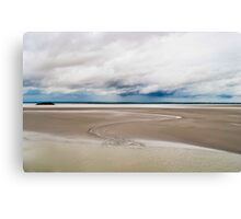 The sandy shores of Normandy Canvas Print