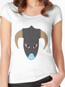 rainbow dash/ dovahkiin Women's Fitted Scoop T-Shirt