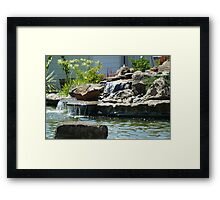 Waterfalls in Suburbia Framed Print