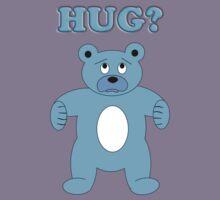 Sad Blue Bear - Hug? Kids Tee