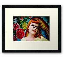 Classic fifties Pinup Gal Framed Print