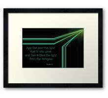 God Divided the Light from the Darkness Framed Print