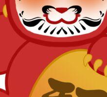 Lucky Daruma Doll Cat Sticker