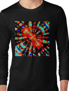 Tie Dye - DinamikTiDi Pattern 5 Digitally Enhanced Long Sleeve T-Shirt