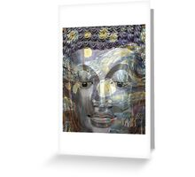 Buddha on a Starry Night  Greeting Card