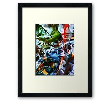 The Colored Eddies Framed Print