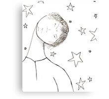 Somedays are just grouchy stars...even for a Buddha Canvas Print