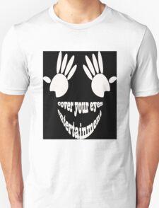 Cover Your Eyes Entertainment White Logo (Sticker) T-Shirt