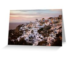Oia at Sunset Greeting Card