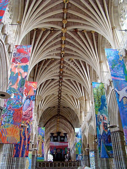 Exeter Cathedral ~ look up! by Jan Stead JEMproductions