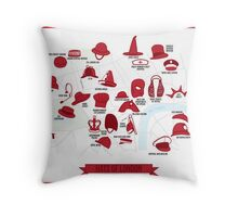 Hats of London Throw Pillow