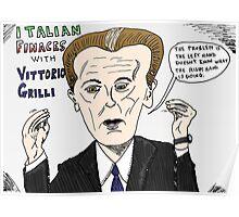 Vittorio Grilli cartoon Poster