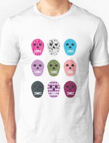 Sugar Pattern Skulls Unisex T-Shirt