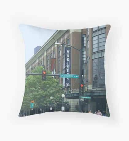 Safeco Field on Game Day Throw Pillow