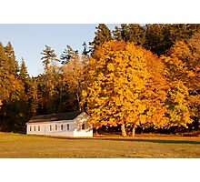 English Camp in Autumn Photographic Print