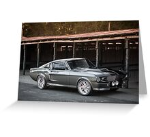 'Eleanor'-inspired Mustang Fastback Greeting Card